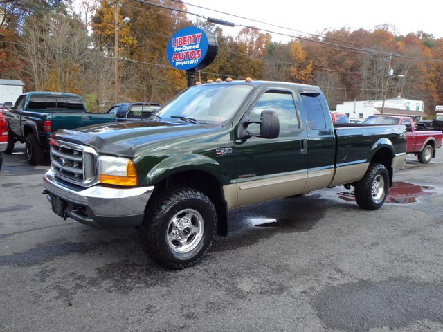 2000 FORD F350 GREEN