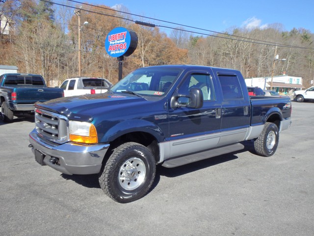 1999 FORD F250 GREEN